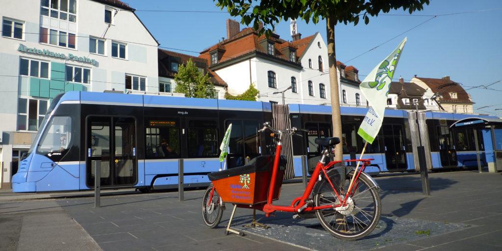 Lastenrad Tram Straßenbahn