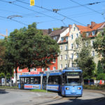 Tram Straßenbahn Agnes-Bernauer-Str