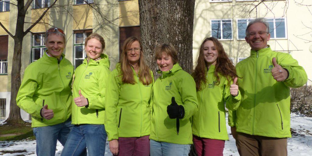 Team BN Kreisgruppe mit grünen Jacken