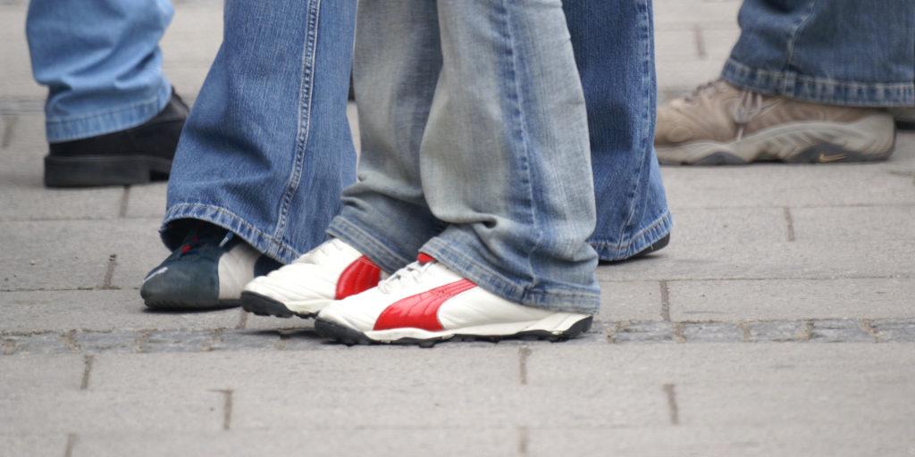 Fußgänger Füße Frank Krönke
