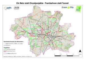 Tram Projekte Karte