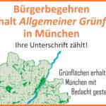 Bürgerbegehren Grünflächen erhalten Unterschriftsliste