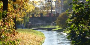 Englischer Garten Stadtbach Stadtgrabenbach Grünanlage Park