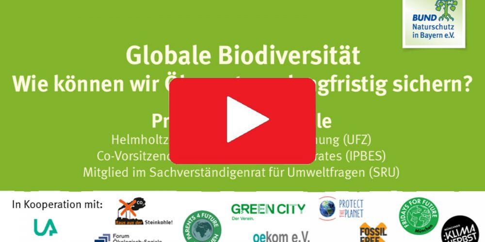 """Aufgezeichneter Vortrag: """"Globale Biodiversität: Wie können wir Ökosysteme langfristig sichern?"""""""